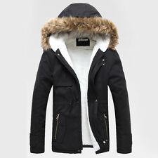 hot CLOAK TRENCH Men Winter Warm Parka 2014 y Thicken Hooded Pea Coat Outerwear
