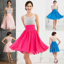2015~ TUTU BEADED Homecoming Party Bridesmaid Evening Cocktail Prom Short Dress