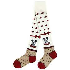 Monnalisa Cream, Red, Navy & Gold Mickey Mouse Tights