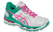 ASICS ''GEL KAYANO 21'' WOMEN'S RUNNING SHOES WHITE HOT PINK EMERALD
