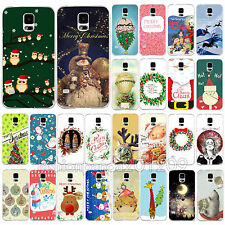 New Cartoon Christmas Present Painted Phone Case Skin for Samsung Galaxy S4 S5