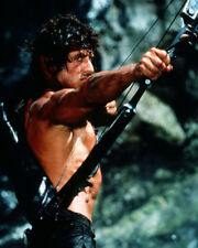 SYLVESTER STALLONE BARECHESTED CROSSBOW CLASSIC RAMBO FIRST BLOOD PHOTO & POSTER