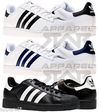 ADIDAS SUPERSTAR II 2 MENS ORIGINALS TRAINERS NAVY BLACK WHITE SHOE SIZES 7 - 12