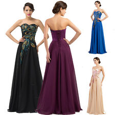 FREE SHIP PEACOCK Quinceanera BRIDAL Formal Cocktail Prom Party Evening Dresses