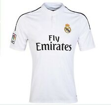 2015 Real Madrid Soccer Jerseys RONALDO Home White Football Shirts Polyester Top