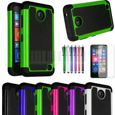 Heavy Duty Rugged Impact Hybrid Hard Case Cover For Nokia Lumia 630 635+Film