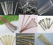 100pcs Silver Golden Head/Eye/Ball Pins Finding  any size to choose Free Ship