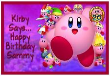 KIRBY Edible Images Cake Frosting Topper Birthday Party Decoration