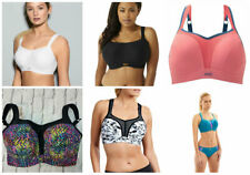 Full-Busted Underwire Sports Bra by Panache 5021 IN WHITE COLOUR !!!! AA-4