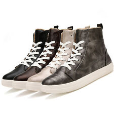 Men's Fashion Lace Up Warm PU Leather Sports Leisure Casual Stocking Shoes