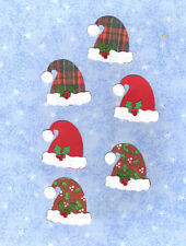 Quickutz Santa Hats with Holly Leaves Die Cut Embellishment, Sizzix
