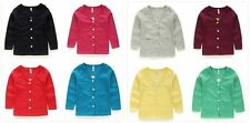 New Girls Cardigan Sweater V-Neck 8 Beautiful Colors Sizes 2T 3T 4T 5 6/7