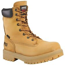 Men's Timberland PRO 26011 8-Inch Waterproof Soft Toe Boots Wheat Suede (D, M)