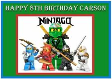 NINJAGO Edible Images Cake Frosting Topper Birthday Party Decoration