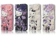 For iphone 6 Plus 5.5 Case 3D Luxury Bling Hello Kitty Leather Flip Wallet Cover