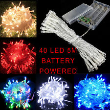 40 LED 5m Battery powered LED Light String Fairy Party Wedding Christmas Outdoor