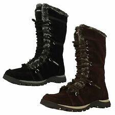 LADIES SKECHERS FUR LACE ZIP UP WINTER MID CALF BOOTS GRAND JAMS UNLIMITED 45419