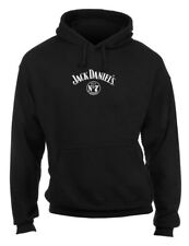 Jack Daniels Men's Black Label Pullover Hooded Sweatshirt - Black 33261433JD-89