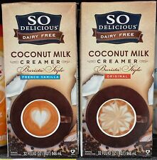 So Delicious Dairy Free Coconut Milk Coffee Creamer Barista Style 32 oz~Pick One