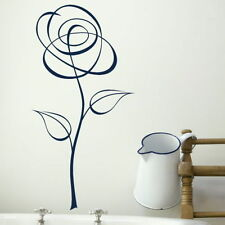 Pinstripe Flower Wall Sticker Interior Decal Floral Wall Transfer X77