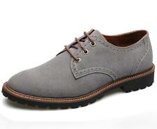 Men's Genuine Leather Gray Shoes Oxfords Casual Winter Dress Shoes Size9 10 11