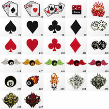 #1189R Casino Poker Game Cards Pool Billiard Embroidered Sew Iron On Patch Badge