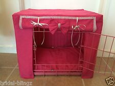PINK DIAMANTE PUPPY/DOG CRATE COVER/MADE TO ORDER