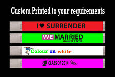 100 CUSTOM COLOR PRINTED TYVEK WRISTBANDS EVENT CLUB BAR PARTY WEDDING BANDS
