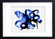 Watercolour Print of Original Painting - Blue Octopus - Art - Picture 8Wa