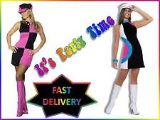 Swinging 60s 70s Sixties Seventies Ladies Womens Fancy Dress Costume Outfit