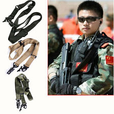 Adjustable Army Tactical 2 Two Point Bungee Rifle Gun Sling Swivels System Strap