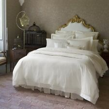 ULTRA-SOFT NEW SFERRA GIZA 45 LACE PERCALE FITTED SHEET IN IVORY OR WHITE