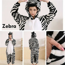 Hot Sweet Zebra Animal Pyjamas Jumpsuit Cosplay Costume Sleepwear