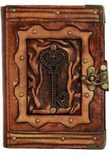 Heart Key Pendant Refillable Leather Journal / Diary / Lock / Brown Notebook