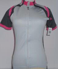2XU Active Cycle Jersey - Womens Small - Concrete Grey/Synthetic Pink msrp$80