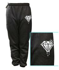 NEW MEN'S PRINTED DIAMOND DOPE FUNNY FLEECE JOGGER DRAWSTRING SWEAT PANTS