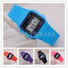 Fashion Alarm Watch Classic Sports Children Boy Girl Digital F-91W Watch GBW