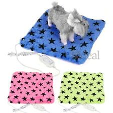 Pet Dog Cat Electric Heating Heater Mat Pad Bed Blanket Star Pattern Soft New