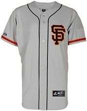 San Francisco Giants MLB Majestic Replica Road Jersey Gray Big & Tall Size