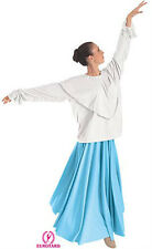 Liturgical Dance/Praisewear Adult Shawl Collar Blouse ~ White ~ # 112