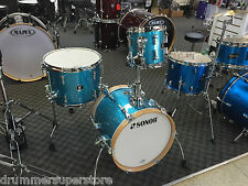 Sonor Martini SE 4 piece Drum Shell Pack Turquoise Sparkle