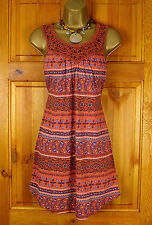 NEW FAT FACE LADIES TERRACOTTA BROWN BLUE PAISLEY COTTON SUMMER TUNIC CAMI TOP