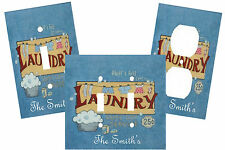 PERSONALIZED FLUFF & FOLD LAUNDRY ROOM  LIGHT SWITCH PLATE COVER