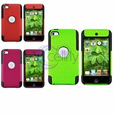 Colorful Hybrid Case Meshed Hard Skin Cover For Apple iPod Touch 4 4th 4G Gen