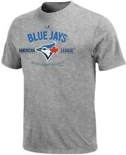 Toronto Blue Jays Majestic Men's Gray Added Value Tee Shirt Big And Tall Sizes