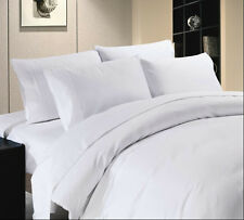 Hotel Collection 1000TC Brand New White Solid 4pc Sheet Set 100% Egyptian Cotton
