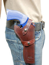 "NEW Barsony Burgundy Leather Western Style Gun Holster for Ruger 6"" Revolvers"