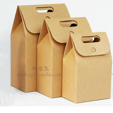 10pcs Kraft Paper Gift Bags Vintage shopping Party Treat Paper Favor Bags lovely