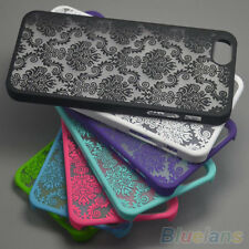 "Nice Rubberized Damask Pattern Case Cover For iPhone 4 4S 5 5S 6 4.7"" Plus 5.5''"
