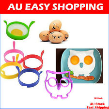 Tant Silicone Non Stick baking Kitchen Egg Rings 5 colors